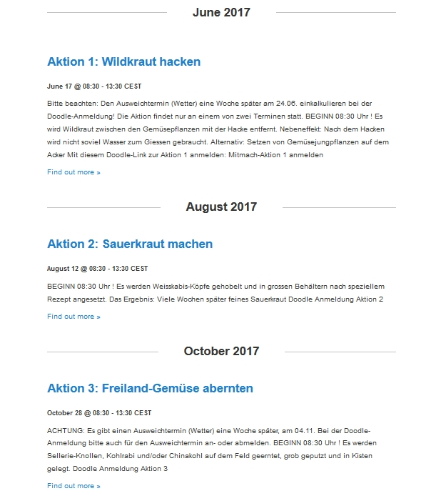 Aktionen 2017 SLN Kalenderansicht