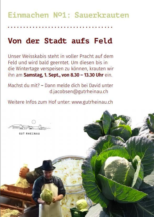 Sauerkrauten GutRheinau