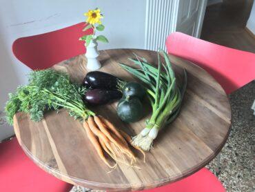 Eine sommerliche Gemüselieferung